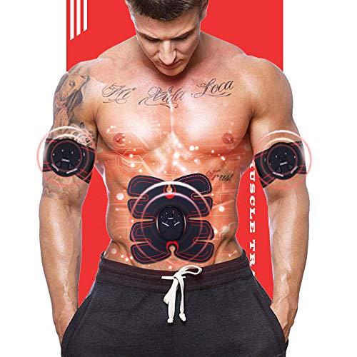 PUPMATE EMS Muskelstimulator, Bauchmuskeltrainer Muskelaufbau Gürtel für Home Gym Workout, ABS Fitness Ausrüstung für Männer und Frauen