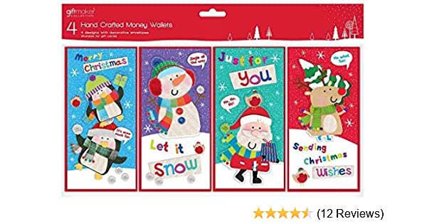 10 Pack Hand Stitched RUDOLF Novelty Christmas card