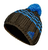 Adidas Pudelmütze mit Bommel, Größe:S, Farbe:dunkelbraun/blau