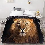 BEDSETAAA 3D Print Bettbezug, Bettdecke/Steppdecke/Decke Fall Königin/König, Bettwäsche Bettwäsche Tier Black Panther 155x215cm EP