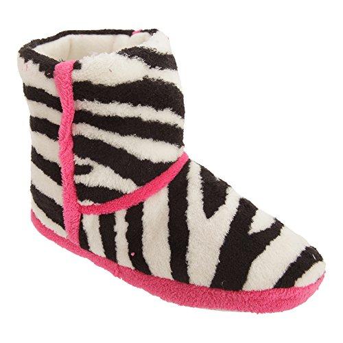 Pantofole a stivaletto - Donna Zebra