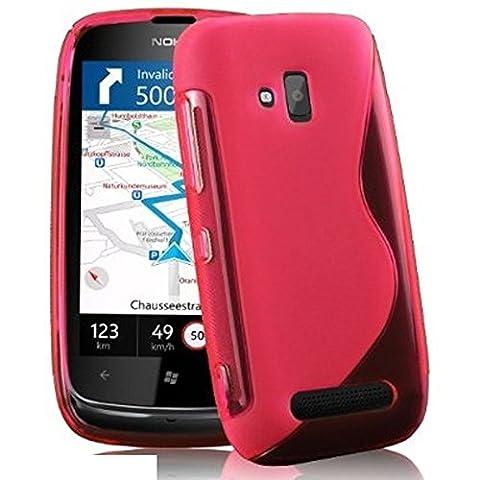 Nokia Lumia 610 Étui HCN PHONE® S-Line TPU Gel Silicone Coque souple pour Nokia Lumia 610 - ROSE