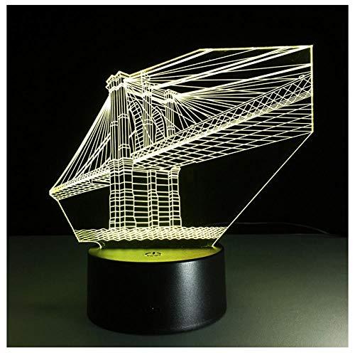 7 Farbe Brücke Lampe 3D Visuelle Led Nachtlichter Für Kinder Touch Usb Tisch Baby Schlafen Nachtlicht Sensor Lampe Fernbedienung -