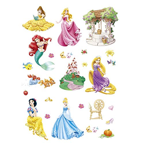 ufengke Wandtattoo Prinzessin Meerjungfrau Wandsticker Wandaufkleber Schloss Für Babyzimmer Kinderzimmer Mädchen (Wandtattoo Prinzessin Schloss)