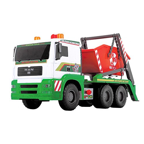 Dickie Toys 203809002 - Air Pump Container Truck, Containerfahrzeug mit Container, 48 cm