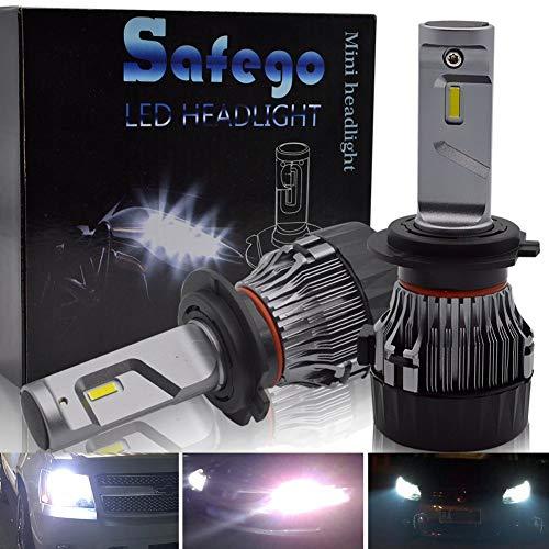 H7 LED Kit Lampadine Faro Auto - Safego 60W 10000LM Kit Conversione LED Automatico Chip LED Sostituisci per Luci Alogene Auto o Lampadine HID 12V MiniHL-H7