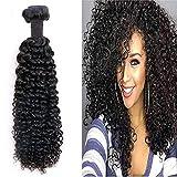 YoungSee Afro Kinkycurly Hair Weave Extensions Tressen Echthaar Einnahen 26 zoll Schwarz Echthaar Tressen Locken Remy Bundle 100g