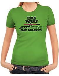 Junggesellenabschieds Damen T-Shirt mit JGA 46 Das Wars - Jetzt hab ich die Macht Motiv Premium