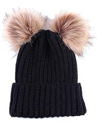 Cappello del bambino , feiXIANG Moda carino neonato mantenere caldo Cappelli invernali maglia orlatura di lana cappello-- Lana di maglia