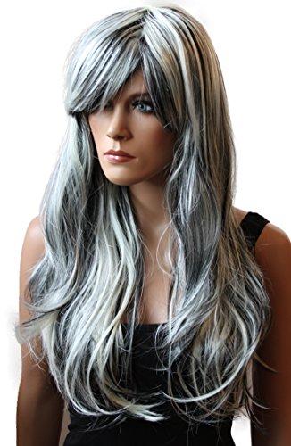 Prettyshop carnevale capelli lunghi parrucche di moda per donna diversi colorei phk10