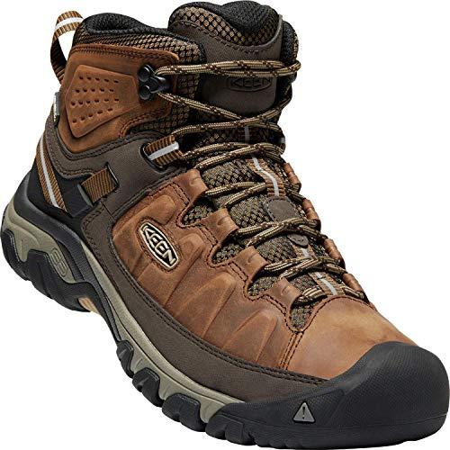 Keen Targhee III Waterproof Mid, Zapatos de High Rise Senderismo para Hombre, Marrón Big Ben/Golden...