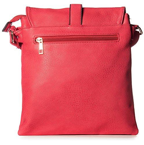 Big Handbag Shop mittelgroße Damen Schultertasche Umhängetasche Cross Body mit mehreren Taschen Blassrosa