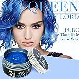 Nouvelle qualité Bricolage cheveux cire boue hommes femmes mamie cheveux cendres crème (bleu)