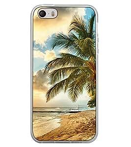 Fuson Designer Back Case Cover for Apple iPhone 4S (sea beach river pond tree coconut tree)