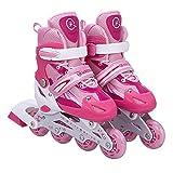 Kinderinliner Inlineskates - Größenverstellbar - Pink - Gr. M