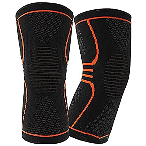 Knie Kompression Ärmel, ez-buy 1Paar Warm halten Gemeinsame Verletzungen Recovery