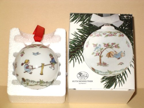 Hutschenreuther boules 1989 pour enfant avec boite originale.emballage porzellankugel boule design: ole winther/porcelain ball/porcellana sfera