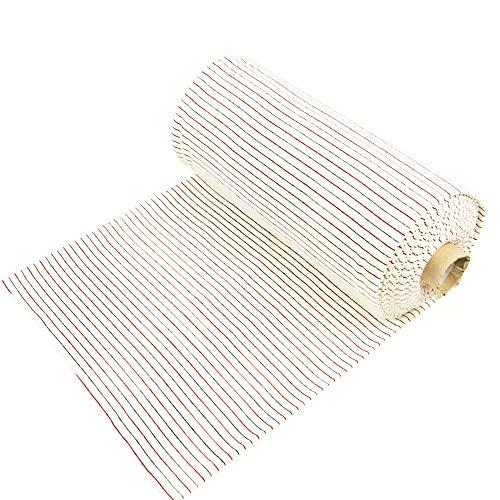 Bündchen Stoff feine Streifen rot marine weiß Abschlussbündchen Schlauchware gestreift - Preis gilt für 0,5 Meter