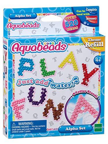 Alpha Alphabet Bead (AQUA BEADS Aquabeads 79258 Alpha Set, Mehrfarbig)