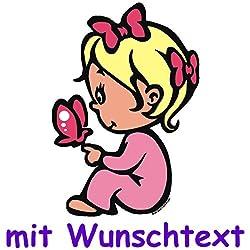 Bunter Babyaufkleber Mit Wunschtext - Motiv B41b