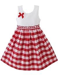 Mädchen Kleid Rot Schottenkaro