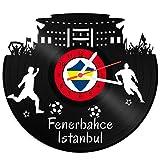 GRAVURZEILE Schallplattenuhr Fenerbahce Istanbul - 100% Vereinsliebe - Upcycling Design Wanduhr aus Vinyl Made in Germany