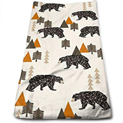 Multi Blush Compact (Nifdhkw Bear Forest Woodland Camping Trees Multi-Purpose Microfiber Towel Ultra Compact Super Absorbent and Fast Drying Sports Towel Travel Towel Beach Towel Perfect for Camping, Gym, Swimming.)