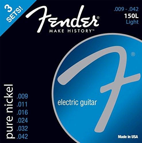 fender-150l-pure-cuerdas-de-guitarra-electrica-de-niquel-9-42-pack-de-3