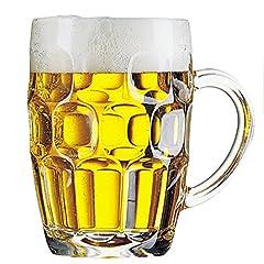 Idea Regalo - Confezione 3 Calici birra con manico 56 cl - ARCOROC Linea Britannia MUG calice birra classico boccale Giarra