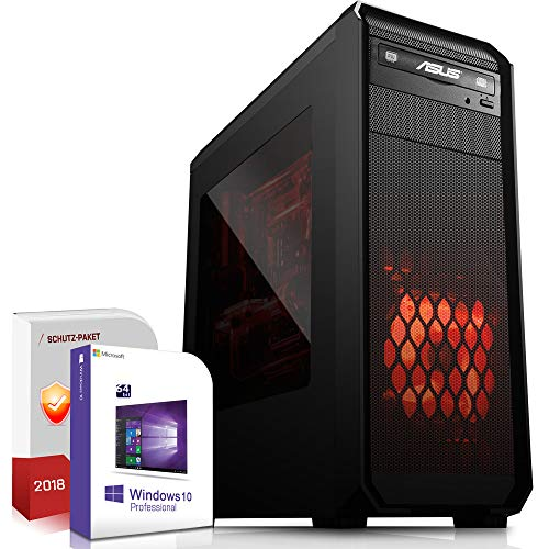 Gaming PC AMD Ryzen 7 1800X 8x4.0GHz |ASUS Board|16GB DDR4|512GB M.2 SSD|Radeon RX 580 8GB 4K HDMI|DVD-RW|USB 3.1|SATA3|Windows 10 Pro|3 Jahre Garantie Gamer Computer Desktop
