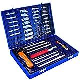 Max-Power 040262 Set Coltelli Tagliabalsa con Accessori per Modellismo e Bricolage, 50 Pezzi