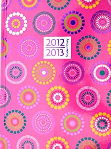 2012 - 2013 Academic Mid Year Student Diary A5 Week to View WTV Hard Back Case Bound - Pink