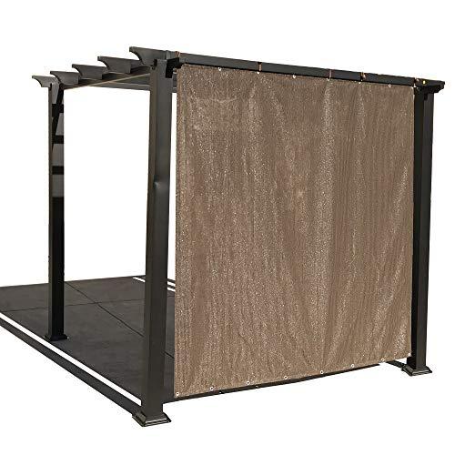 ALION Home Outdoor Sonnenschutz Sichtschutz Panel mit Tüllen auf 2Seiten für Terrasse, Fenster, Custom auf Bestellung, mokkabraun, 3' x 6' -