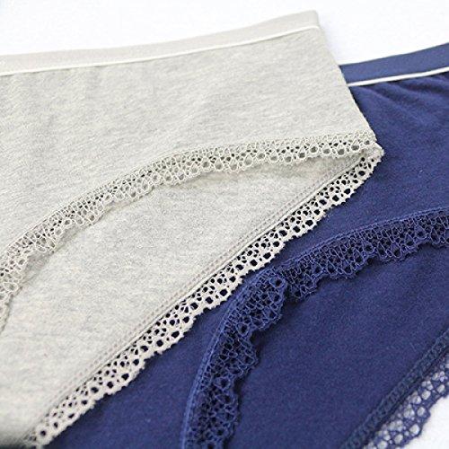 Donna Vita Bassa Triangolo Confortevole Morbido Traspirante La Salute L'assorbimento Di Umidità Biancheria Intima Blue