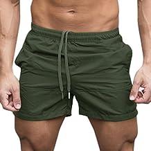 Pantaloni Casual Sportiva Uomo,Sonnena Pantaloncini Sportivi Estivi da Uomo Pantaloni Culotte Pantaloncini da Uomo Elasticizzati Sportivi da Jogging Pantaloni Estivi Uomo