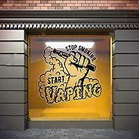 Vape Wall Window Decal Sticker Vape Shop Vaping Vape Store Logo Handmade 1501