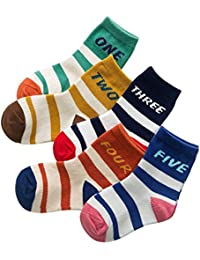 2877df94836 Rallytan Kids Cotton Crew Socks Stripe 5 Pair Pack Casual Socks