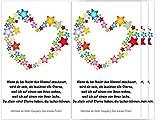 Sternenkind 4 Folien für Grablicht Kerze Trauerkerze Sterne Herz