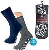 1 Paar Home Strumpf, Socken, mit Abs-Sohle Für Damen und Herren Schwarz, Marine, AnthrazitCH-4440 (39-42, Anthrazit)