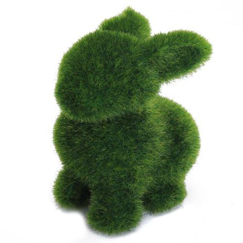 Coniglio In Erba Artificiale Shagga Fluffy Animale Artigianato Decoro Casa