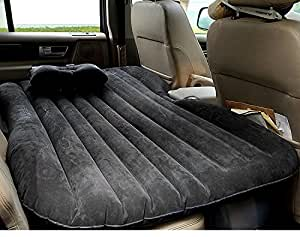 homdox matelas gonflable voiture matflable lit de voyage voiture 140 x 90 x 45 cm bleu. Black Bedroom Furniture Sets. Home Design Ideas
