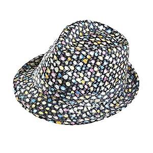 WIDMANN 0180M?getupfter Fedora Sombrero con Lentejuelas, One Size, Multicolor