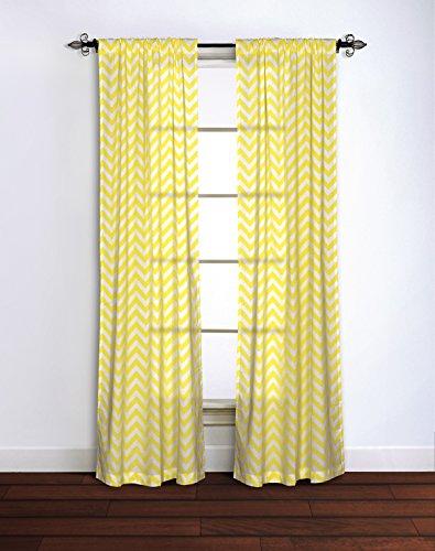 Rizzy home chevron window panel, 42da 213,4cm, giallo/bianco