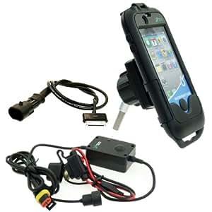 Moto Étanche iPhone 4 Étui Rigide Montage Paquet avec Direct à Chargeur Batterie (sku 13335)