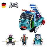 4in1 RC ferngesteuerte Steckbausatz DIY Baustein-Auto Fahrzeug, Roboter, Kran,LKW,Komplett-Set