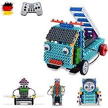 4 in1 ranuras montar DIY teledirigido construcción Modelos bloques de Auto con Mando a distancia, vehículos, Robot, grúa, camiones de bloques de ...