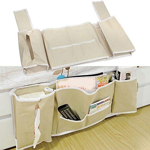 Nachttisch Organizer hängende Aufbewahrung Tidy Tasche Tasche Halter Bett Umhängetasche Baby Zimmer Kinderzimmer Organizer Großes Fassungsvermögen für Bücher Handys Zeitschriften