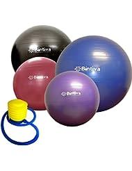 bintiva - pelota de gimnasia, azul, 75 cm