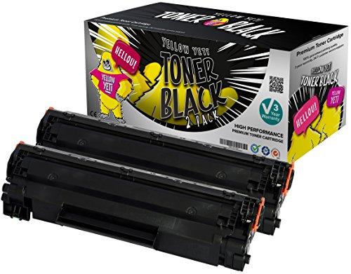 Preisvergleich Produktbild Yellow Yeti CE278A 78A (2.100 Seiten) 2 Premium Toner kompatibel für HP LaserJet Pro M1536 MFP M1536DNF P1560 P1566 P1600 P1606 P1606DN Canon i-SENSYS LBP-6200D [3 Jahre Garantie]
