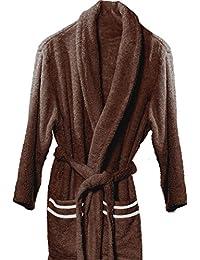 Atenas Home Textile Altea - Albornoz de rizo, talla XL, 100% algodón, 320 g/m², color marrón y beige